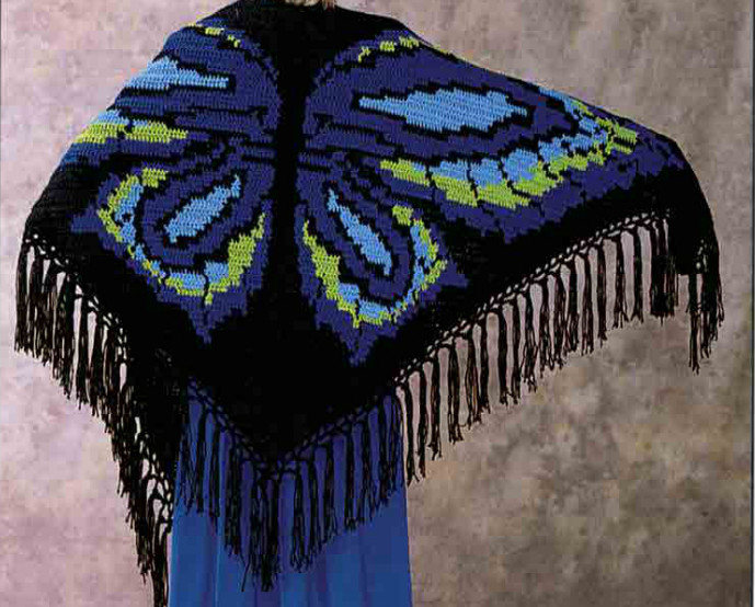 Unique butterfly Shawl by Terri Mesiano Craftsy butterfly Shawl Of Wonderful 44 Pics butterfly Shawl