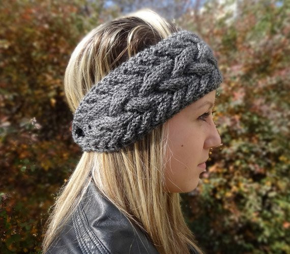 Unique Cable Knit Headband Winter Headband Womens Grey by Knit Winter Headband Of Charming 42 Pictures Knit Winter Headband