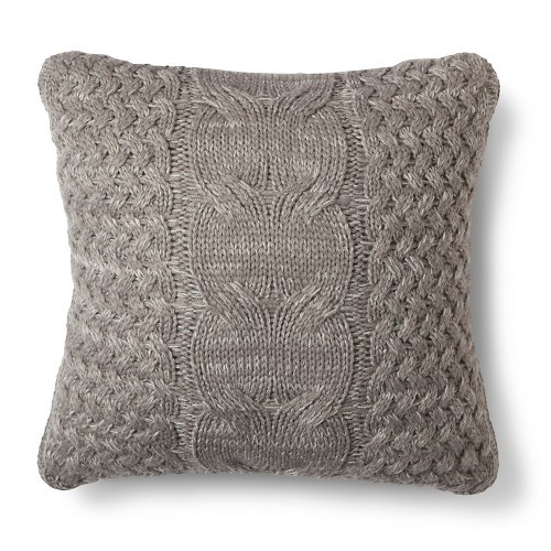 Cable Knit Throw Pillow Threshold