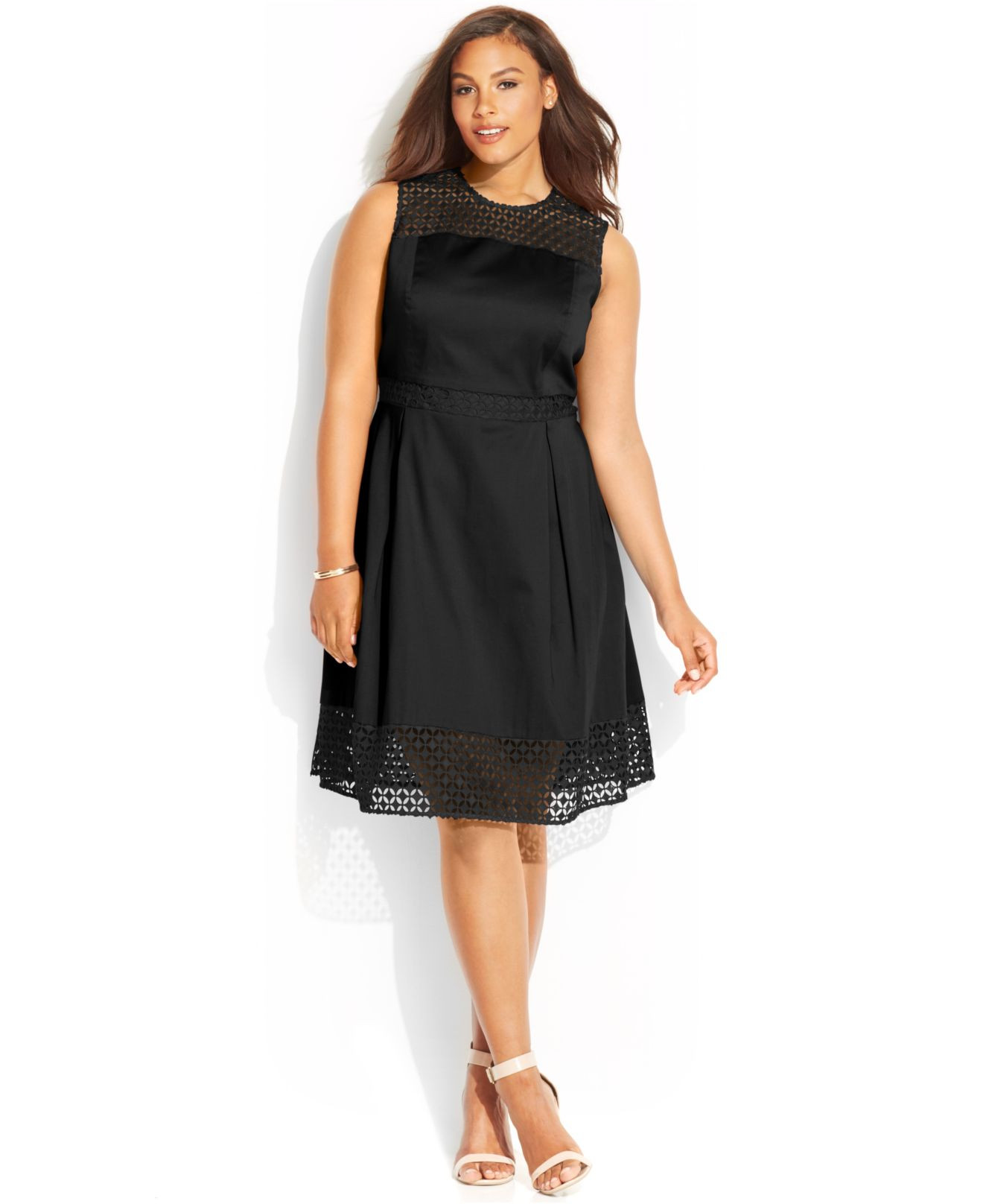 Unique Calvin Klein Plus Size Crochet Panel Dress In Black Plus Size Crochet Dress Of Attractive 46 Ideas Plus Size Crochet Dress