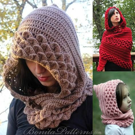 CAPE AND HOOD CROCHET PATTERN