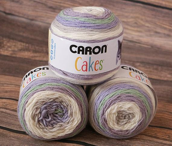 Caron Cakes Yarn Lavender Cake NEW Color Wool Blend