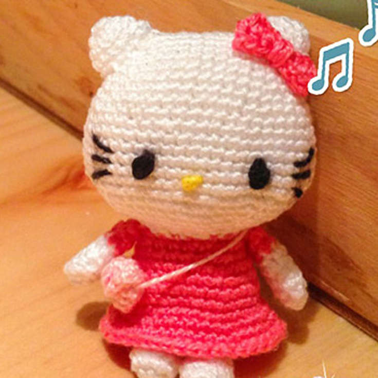 Unique Charming Flower Dressed Hello Kitty Amigurumis • Wixxl Hello Kitty Crochet Pattern Of Luxury 47 Images Hello Kitty Crochet Pattern