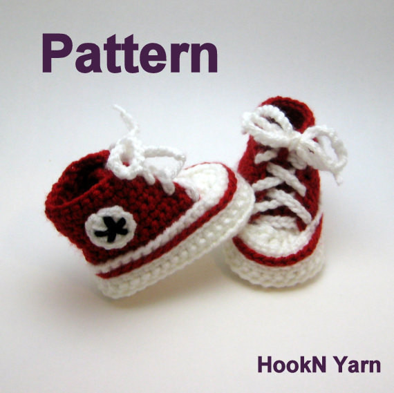 Unique Childrens Crochet Sneaker Slippers Pattern Free Crochet Converse Baby Booties Of Wonderful 41 Models Crochet Converse Baby Booties