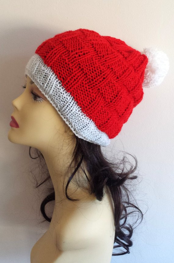 Unique Christmas Hand Knitted Hat Beanie Hat Santa Hat Hand Knit Knitted Santa Hat Of Fresh 50 Photos Knitted Santa Hat