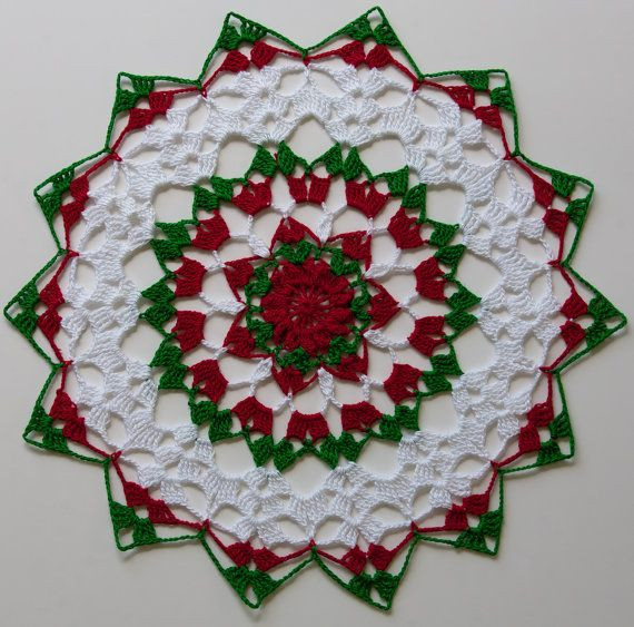 """Unique Christmas Holiday 11"""" Round Cotton Thread Crochet Holiday Christmas Doilies Of Wonderful 44 Photos Christmas Doilies"""