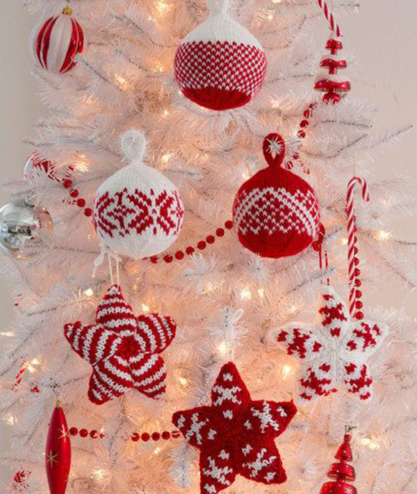 Unique Christmas Knitted Trees ornament Christmas ornament Knitting Patterns Of Beautiful 41 Pics Christmas ornament Knitting Patterns