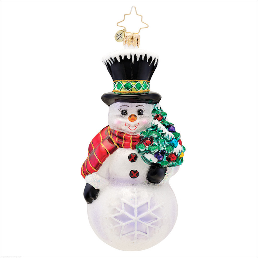 Unique Christopher Radko Flakey the Snowman Christmas ornament Snowman Christmas ornaments Of Adorable 45 Models Snowman Christmas ornaments