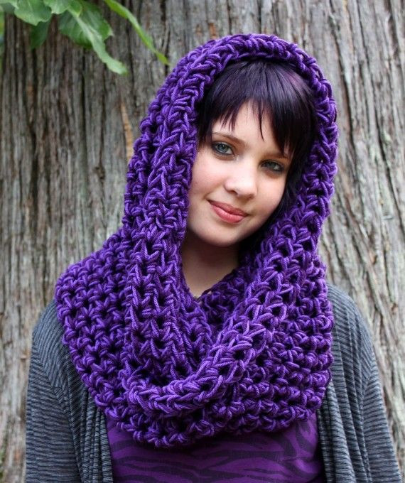 Unique Chunky Cowl Neck Scarf Vegan Hookedwear Eggplant Grape Crochet Cowl Neck Scarf Of Superb 49 Models Crochet Cowl Neck Scarf