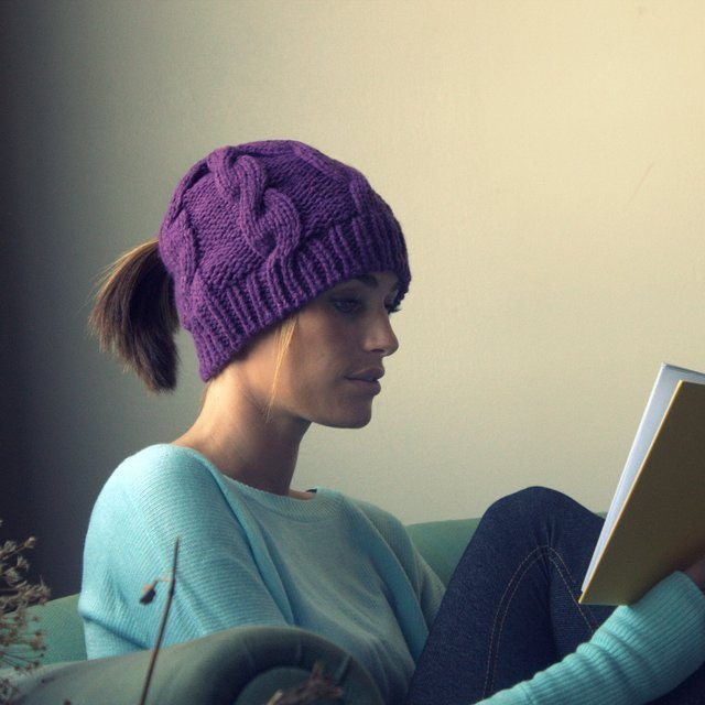 Unique Classic Cable Ponytail Hat by Peekaboos Review the Free Knitting Pattern for Ponytail Hat Of Delightful 43 Models Free Knitting Pattern for Ponytail Hat