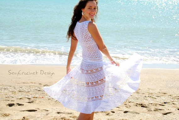 Unique Clearance Sale Crochet White Beach Wedding Dress Exclusive White Crochet Beach Dress Of Brilliant 42 Pics White Crochet Beach Dress