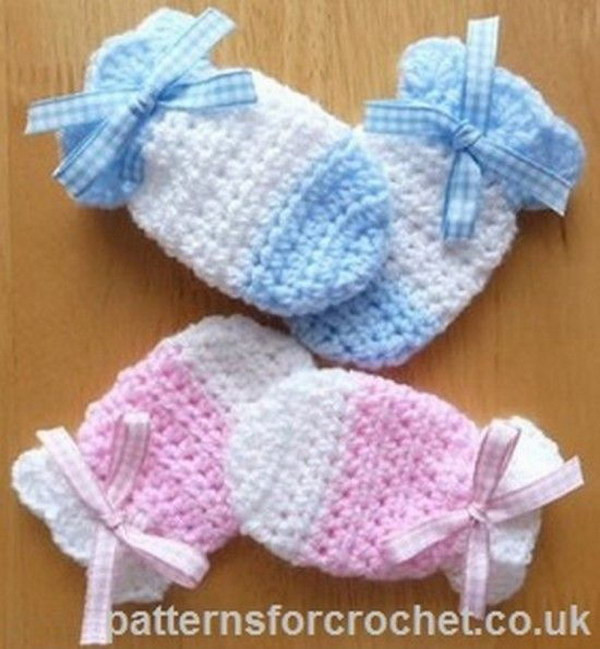 Unique Cool Crochet Patterns & Ideas for Babies Hative Baby Mittens Crochet Pattern Of Great 44 Ideas Baby Mittens Crochet Pattern