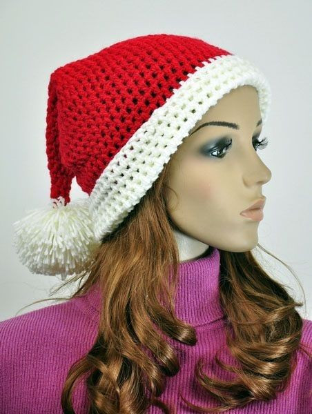 Unique Cotton Hand Knit Cute Santa Claus Christmas Hat Knitted Christmas Hats Of Adorable 50 Models Knitted Christmas Hats