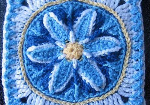 Unique Crochet Afghan Patterns Awesome [free Pattern] A Unique Crochet Floral Framed Afghan Block Of Brilliant 48 Images Unique Crochet Afghan Patterns