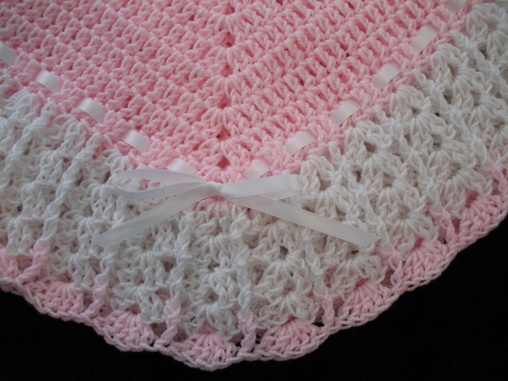 Unique Crochet Afghan Patterns Best Of New Handmade Crochet Baby Blanket Afghan Pink and White Of Brilliant 48 Images Unique Crochet Afghan Patterns