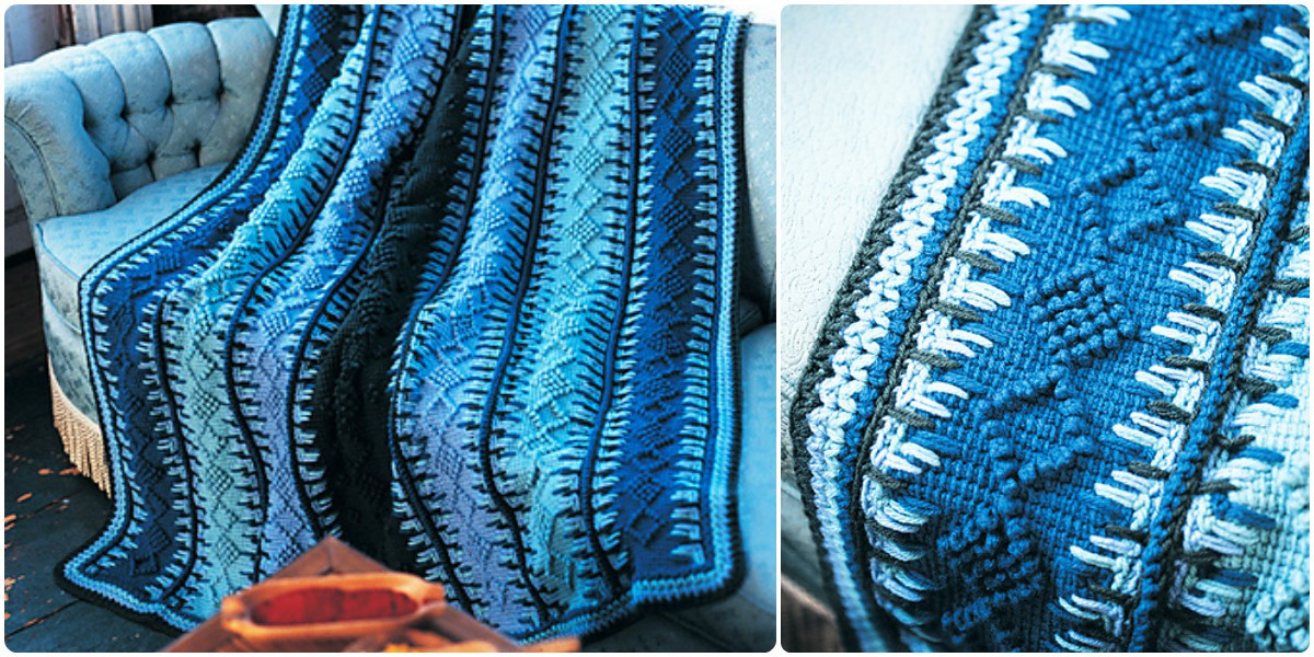 Unique Crochet Alaskan Navy Blue Tunisian Blanket [free Pattern Tunisian Crochet Blanket Of Attractive 49 Models Tunisian Crochet Blanket