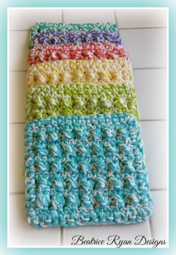 Unique Crochet & Knitted Dishcloth Patterns Hative Scrubby Yarn Patterns Of Adorable 47 Images Scrubby Yarn Patterns