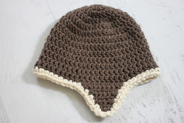 Crochet Aviator Hat Pattern Repeat Crafter Me