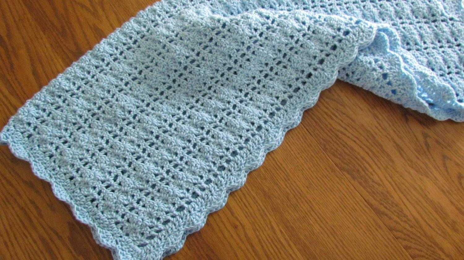 Unique Crochet Baby Blanket Lacy Shell Stitch Crib Size Crochet Crochet Shell Blanket Of Lovely 40 Pictures Crochet Shell Blanket