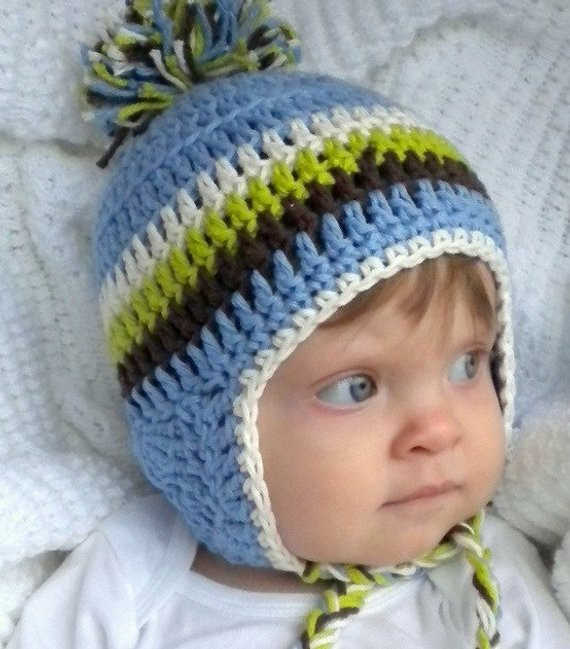 Unique Crochet Baby Ear Flap Hat with Tassels Baby Boy Blue Crochet Baby Boy Hats Of New 50 Ideas Crochet Baby Boy Hats