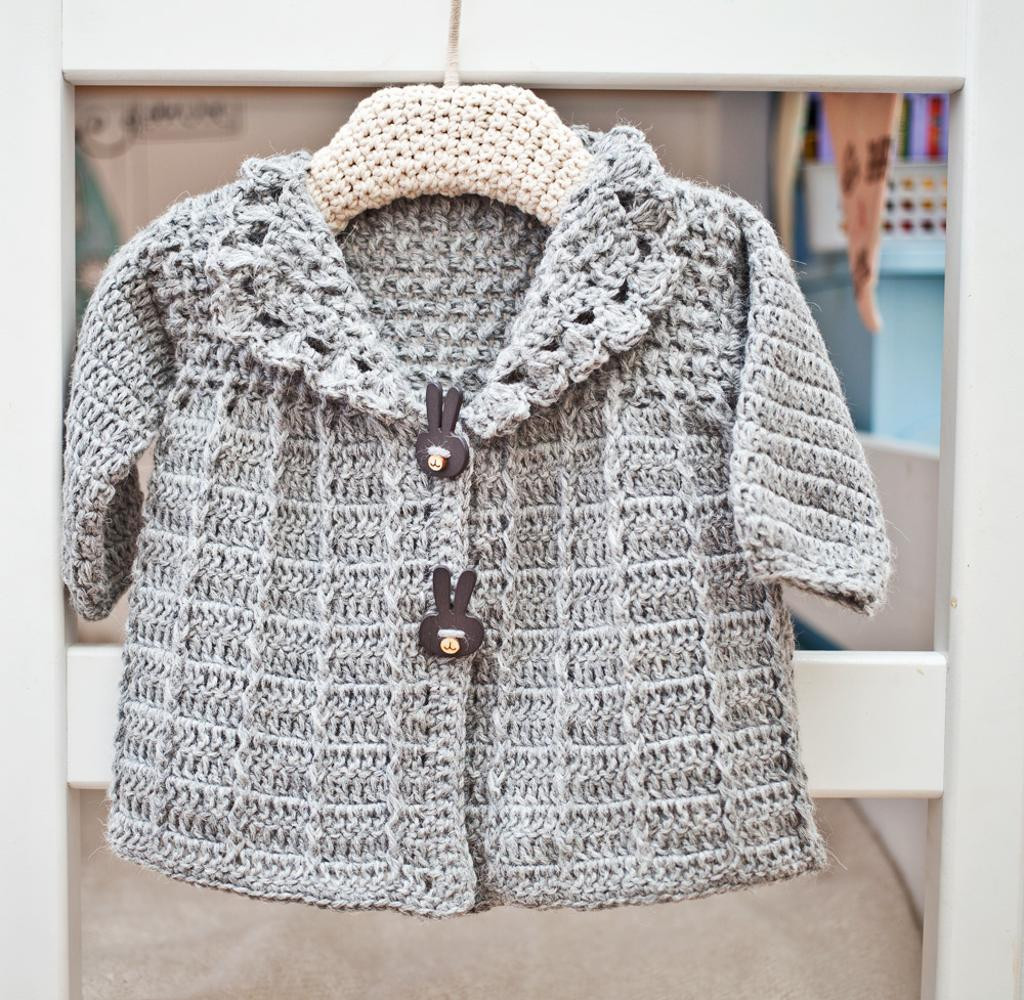 Unique Crochet Baby toddler Jacket by Monpetitviolon Craftsy Crochet Jackets Patterns Of Top 44 Photos Crochet Jackets Patterns