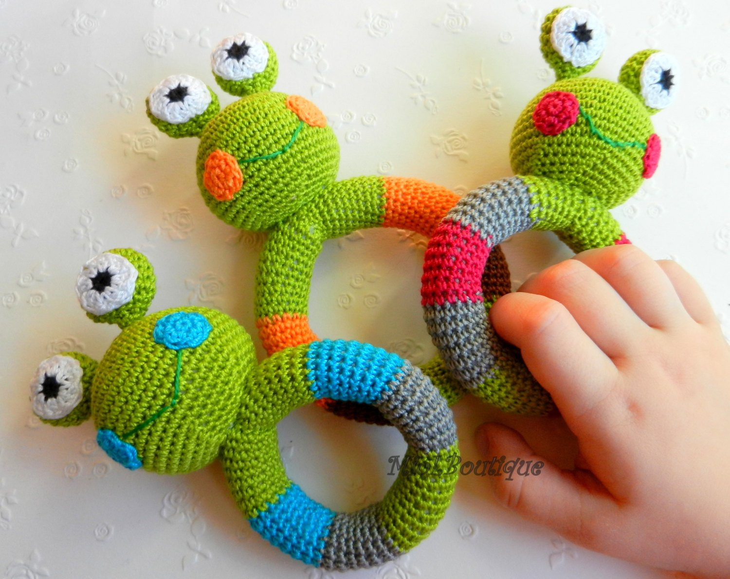 Unique Crochet Baby toy Grasping and Teething toys Frog Stuffed toys Crochet toys Of Amazing 46 Models Crochet toys