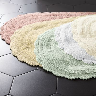 Unique Crochet Border Bath Mat From Through the Country Door Crochet Bathroom Rug Of Great 43 Images Crochet Bathroom Rug