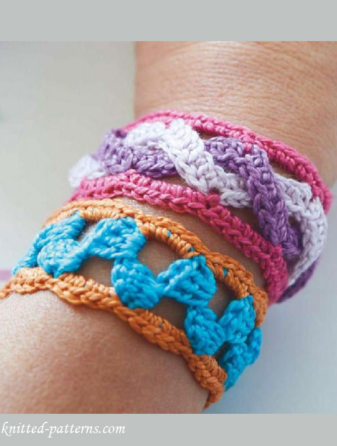 Unique Crochet Bracelets Free Patterns Knitted Bracelet Of Brilliant 50 Models Knitted Bracelet