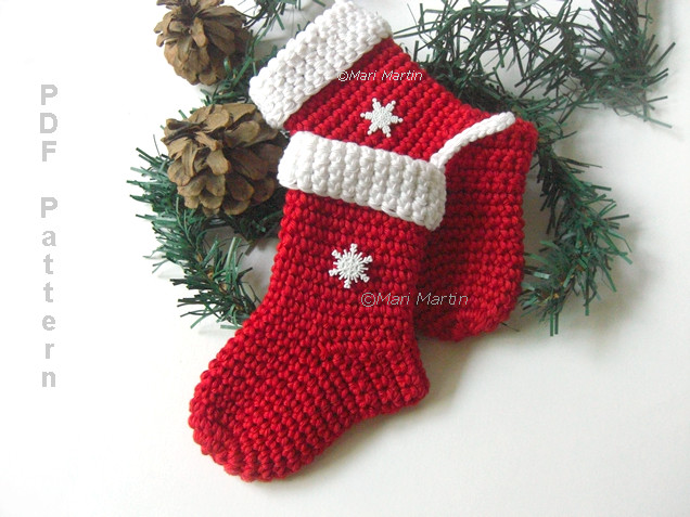 Unique Crochet Christmas Stocking ornament Pattern Crochet Colorful Crochet Pattern for Christmas Stocking Of Lovely Christmas Stockings Crochet Pattern for Christmas Stocking