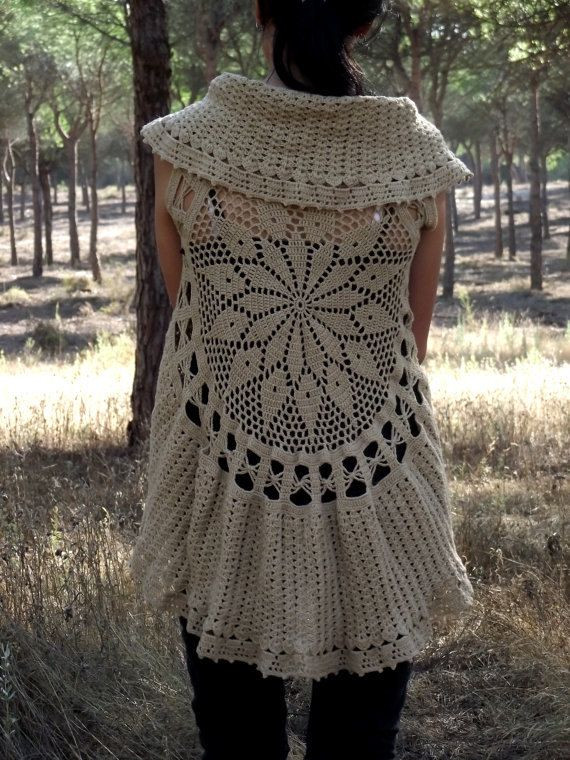 Unique Crochet Circular Vest Pattern Pdf Instant Download Mandala Crochet Circular Vest Of Delightful 46 Models Crochet Circular Vest