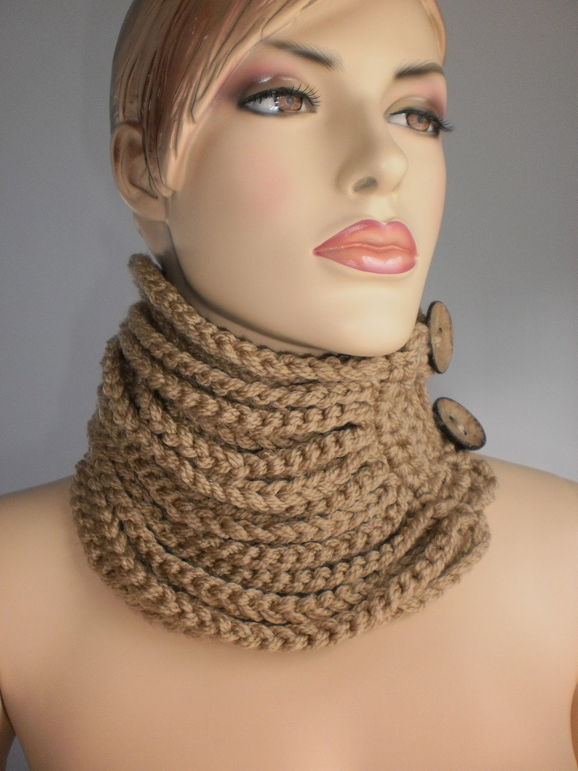 Crochet Cowl Scarf Neck Warmer Winter Accessories