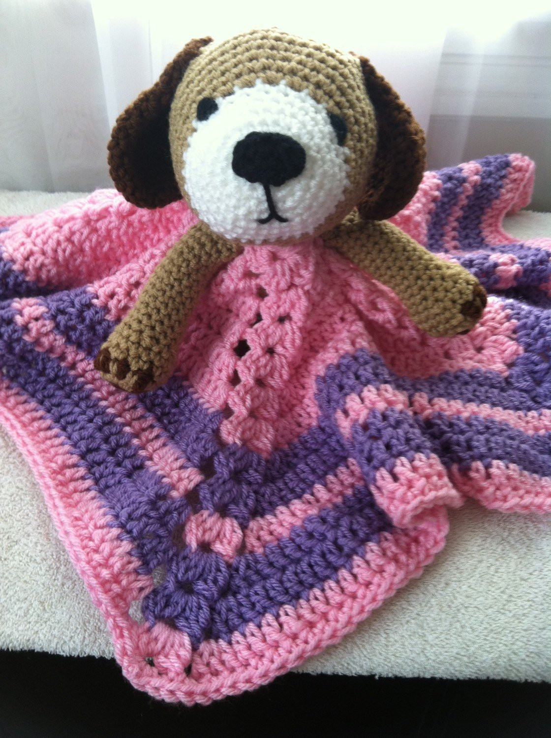 Unique Crochet Dog Puppy Snuggle Lovey Doggy Security Travel Wubby Crochet Lovey Blanket Of Attractive 46 Pics Crochet Lovey Blanket