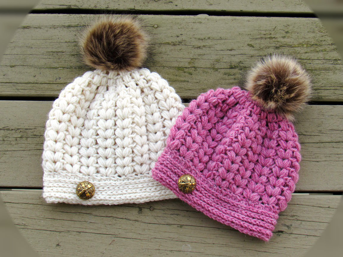 beanie puff stitch crochet hat pattern