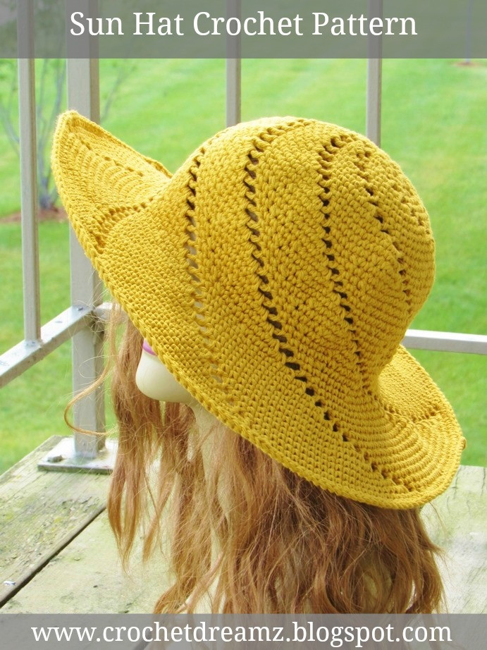 Unique Crochet Dreamz Sunsational Sun Hat Crochet Pattern Crochet Sun Hat Pattern Of Superb 48 Ideas Crochet Sun Hat Pattern