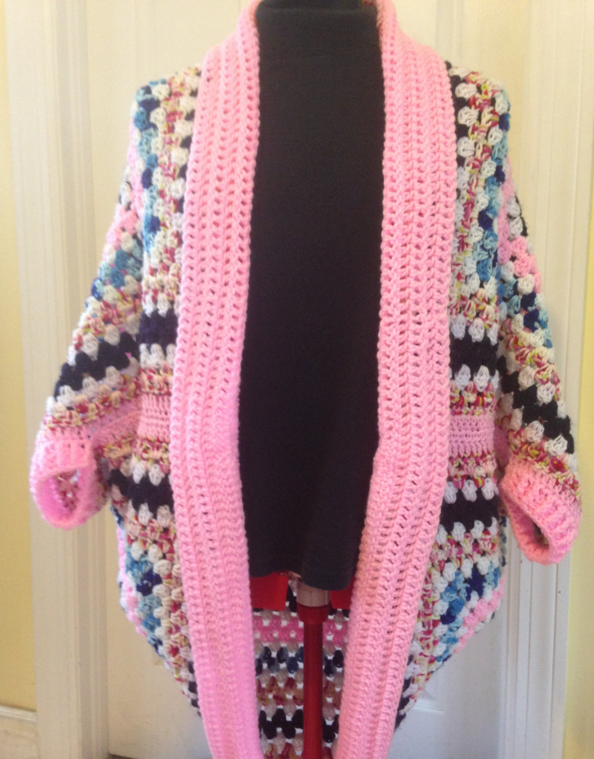 Unique Crochet Granny Square Cocoon Sweater by Handmadebyheikeheart Crochet Cocoon Cardigan Of Charming 45 Pics Crochet Cocoon Cardigan