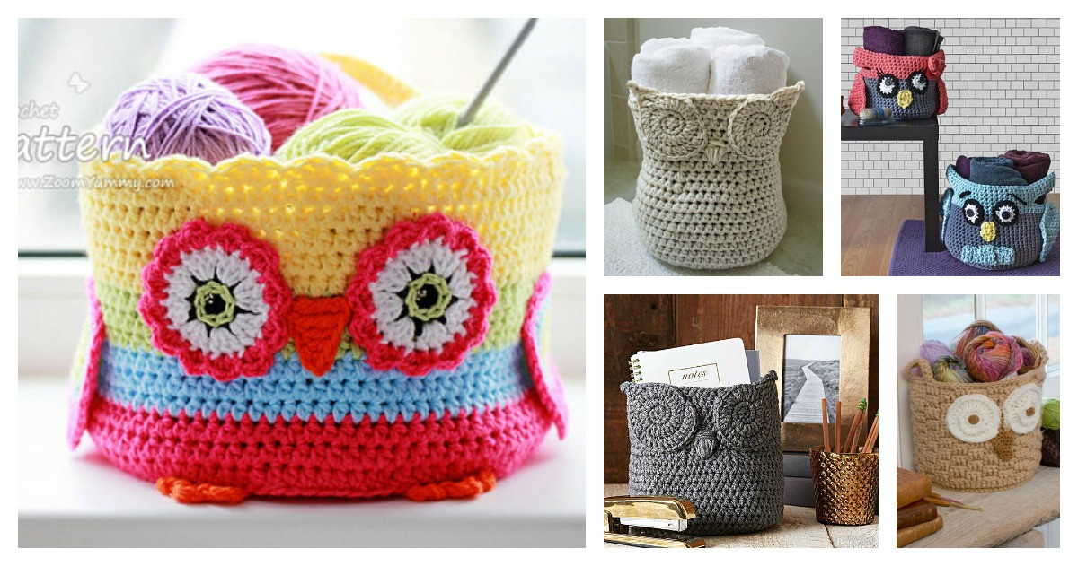 Unique Crochet Hoot Owl Container Patterns Crochet Owl Basket Of Brilliant 47 Photos Crochet Owl Basket