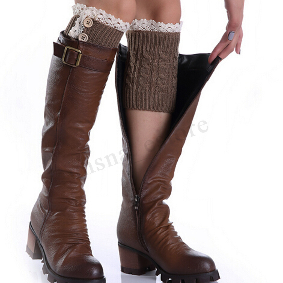 Unique Crochet Knitted Lace Trim Boot Cuffs toppers Leg Warmers Lace Boot Cuffs Of Awesome 50 Pictures Lace Boot Cuffs