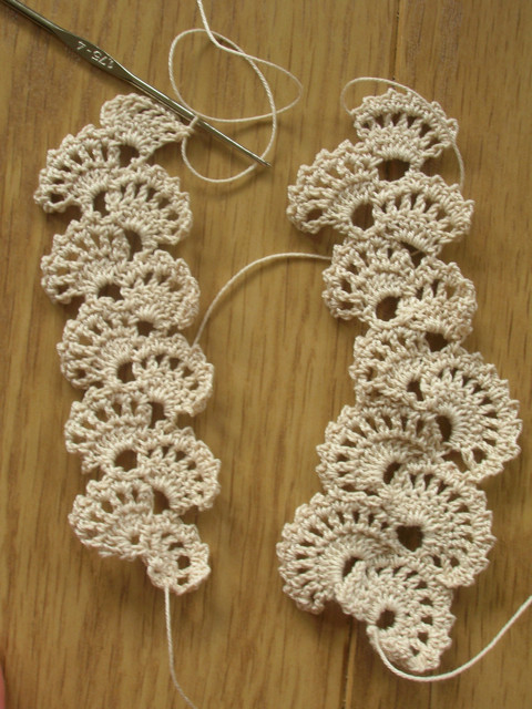 crochet lace swatching