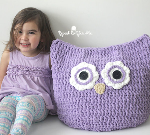 Unique Crochet Oversized Owl Pillow Repeat Crafter Me Oversized Yarn Blanket Of Amazing 46 Models Oversized Yarn Blanket