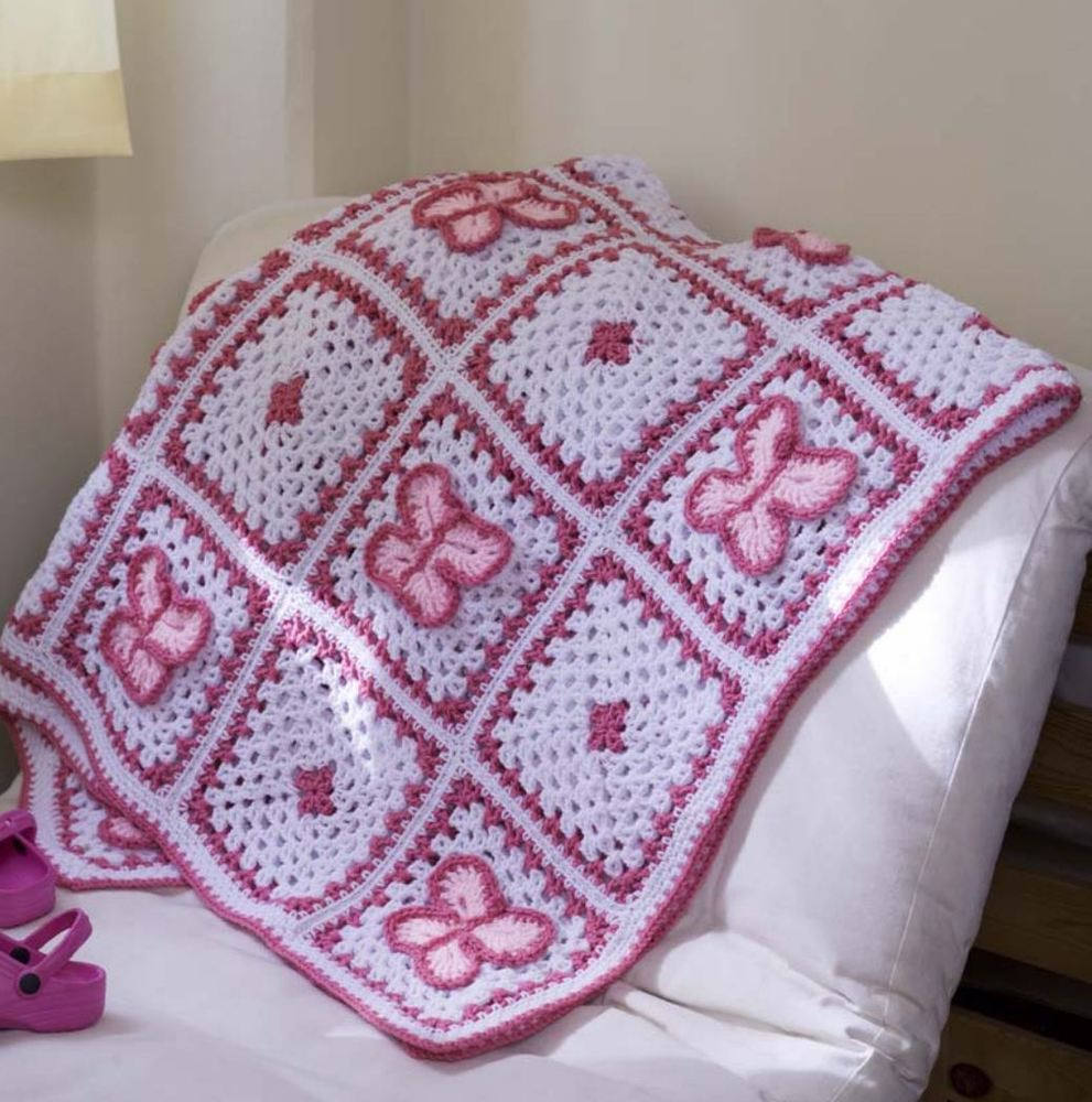 Unique Crochet Pattern Baby Blanket butterfly Afghan Throw Motif Blanket Of Contemporary 49 Models Motif Blanket