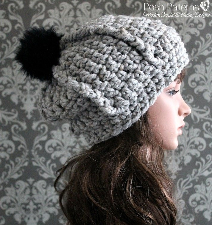 Unique Crochet Pattern Crochet Slouchy Hat Pattern Bulky Crochet Chunky Crochet Hat Pattern Of Delightful 50 Ideas Chunky Crochet Hat Pattern