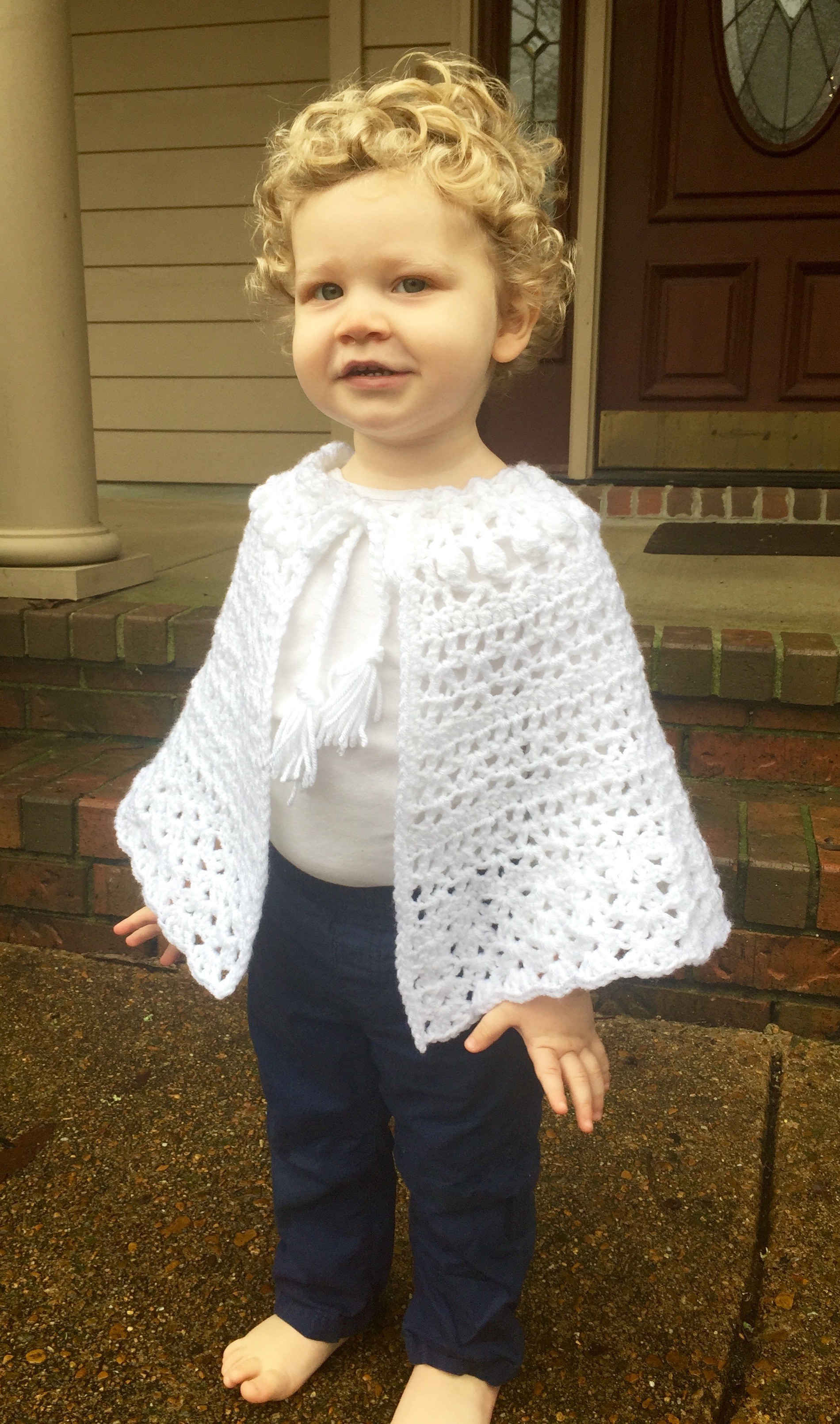 Crochet Pattern Easter Shawl for Girls