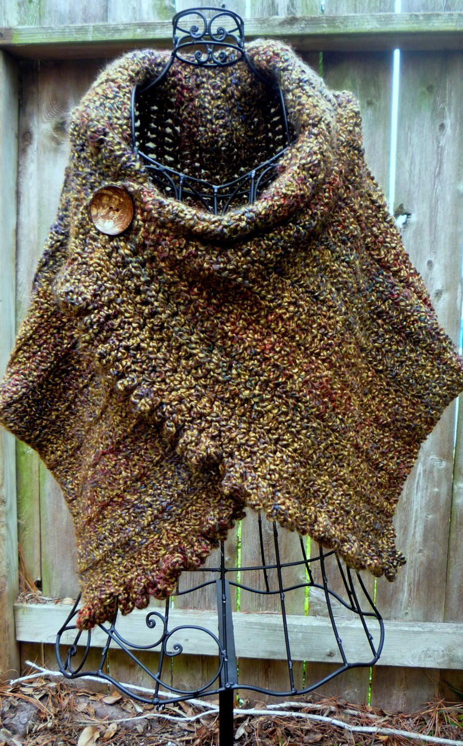 Unique Crochet Pattern for Ruffled buttoned Wrap Crochet Shawl Patterns and Wraps Of Amazing 43 Images Crochet Shawl Patterns and Wraps