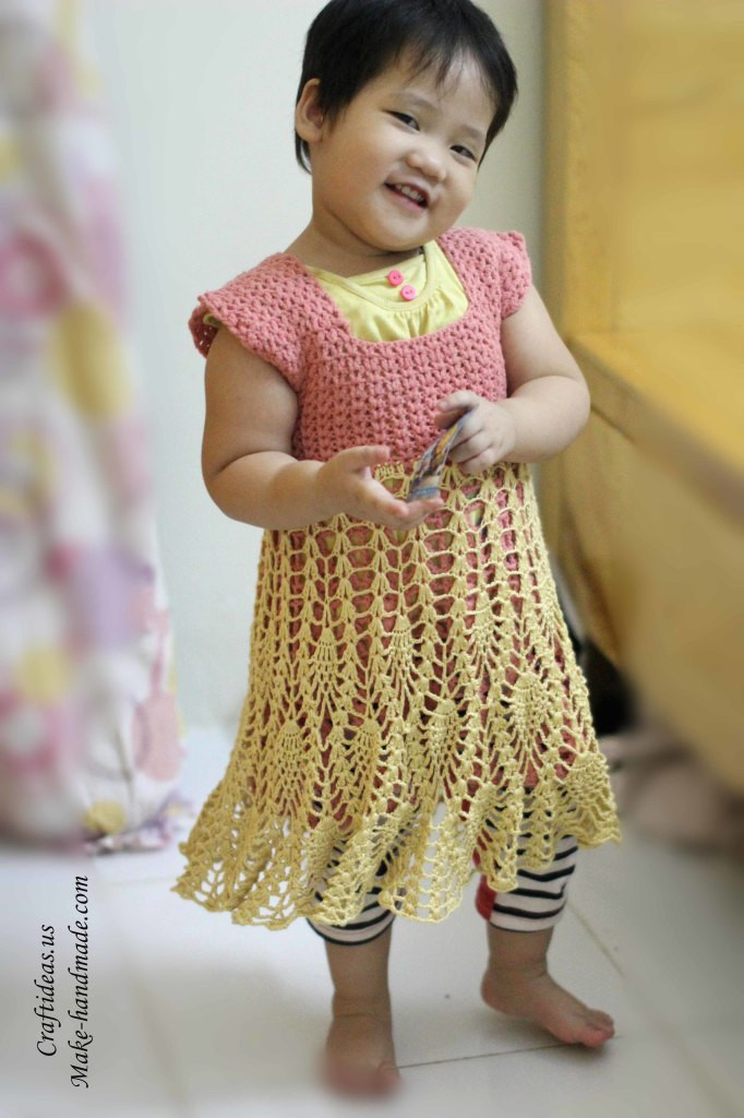 Unique Crochet Pineapple Baby Dress Ideas Crochet Dress for Baby Of Amazing 42 Photos Crochet Dress for Baby