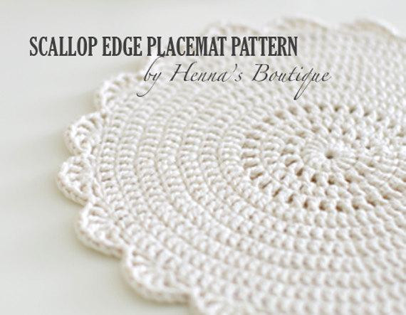 Unique Crochet Placemat Pattern Scallop Edge Placemats Pdf Free Crochet Placemat Patterns Of Lovely 40 Pics Free Crochet Placemat Patterns