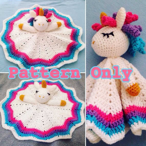Unique Crochet Rainbow Unicorn Lovey Security Blanketpattern Ly Crochet Unicorn Blanket Pattern Of Marvelous 48 Photos Crochet Unicorn Blanket Pattern