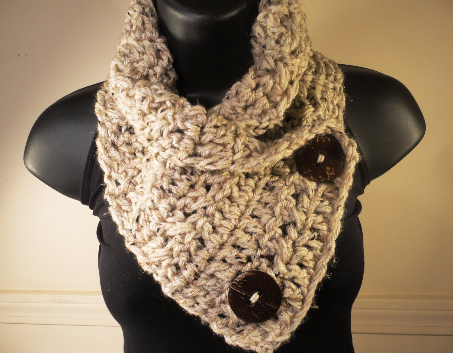 Unique Crochet Scarf Crochet Cowl Crochet button by Villayarndesigns Cowl Scarf Of Innovative 48 Photos Cowl Scarf