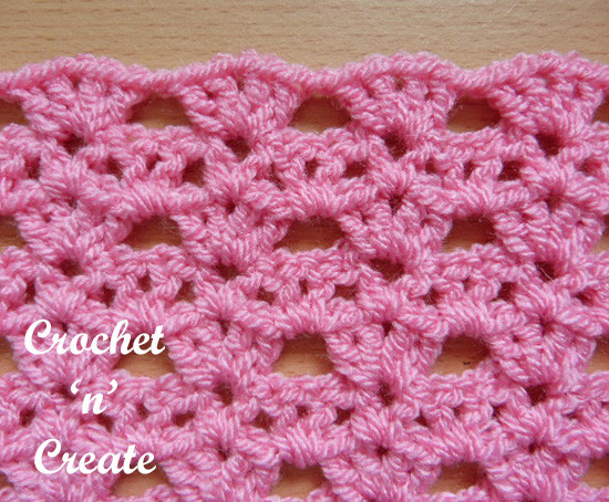 Unique Crochet Shell Tiers Stitch Free Tutorial Crochet N Create Crochet Stitch Library Of Top 43 Ideas Crochet Stitch Library