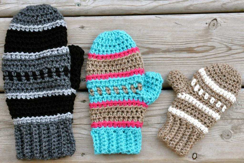 Crochet the Perfect Pair of Mittens or Fingerless Gloves