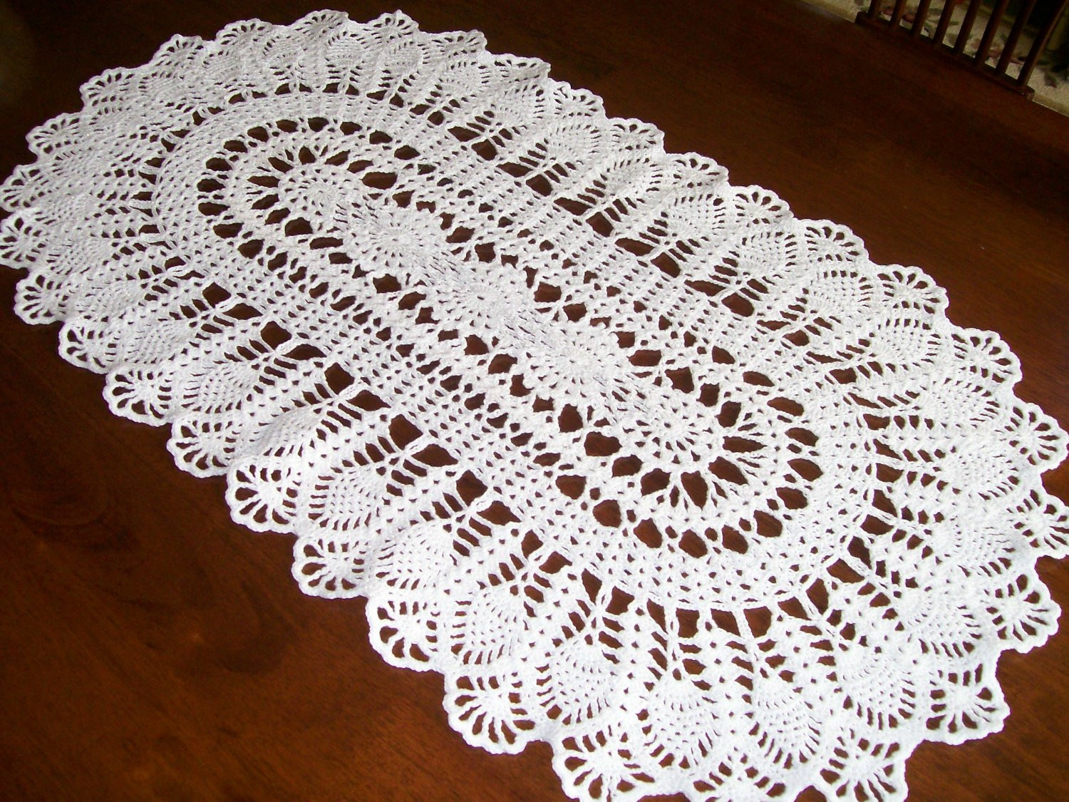 Unique Crochet White Silver Sparkle Doily Table Runner Free Crochet Table Runners Of Gorgeous 50 Models Crochet Table Runners